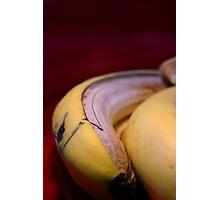 Rotting fruit banana peel Photographic Print
