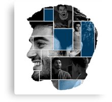 Tyler Hoechlin Face Squares Poster Canvas Print