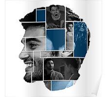 Tyler Hoechlin Face Squares Poster Poster