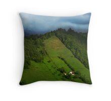 Lonely houses in mountains, Romania, Transylvania Region Throw Pillow