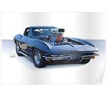 1964 Corvette 'Pro Street' Stingray Poster