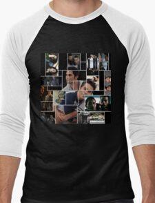Sterek Squares Men's Baseball ¾ T-Shirt
