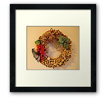 Cork Wreath Framed Print