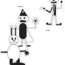 3 Characters by msalinas