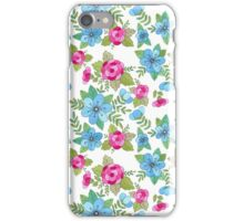 Blue Lilly Watercolor iPhone Case/Skin