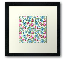 Blue Lilly Watercolor Framed Print