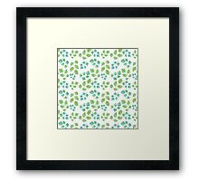 Summer Leafs Watercolor Framed Print
