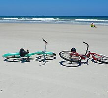 Bikes on the Beach by Caren