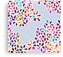 Multi-Colored Petal Flowers Canvas Print