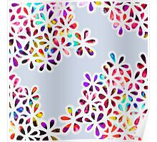 Multi-Colored Petal Flowers Poster