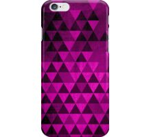 Pink Grungy Triangles iPhone Case/Skin