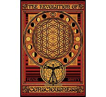 The Revolution of Consciousness | Vintage Propaganda Poster Photographic Print
