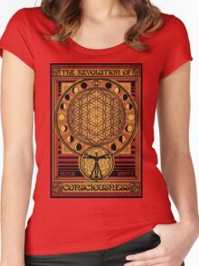 The Revolution of Consciousness | Vintage Propaganda Poster Women's Fitted Scoop T-Shirt