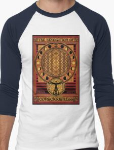 The Revolution of Consciousness | Vintage Propaganda Poster Men's Baseball ¾ T-Shirt