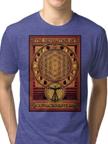 The Revolution of Consciousness | Vintage Propaganda Poster Tri-blend T-Shirt