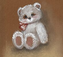 Teddy on toned paper by Gribanessa