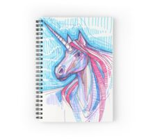 Unicorn drawing - 2015 Spiral Notebook