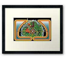 Classic Centipede Woodcut Framed Print