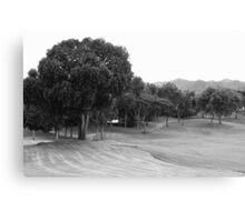 Mt. Malarayat Golf Course in black and white Canvas Print