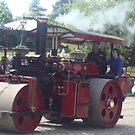 Steam Roller at Beamish by GEORGE SANDERSON