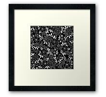 Rosalie Black Drawing with Ink Framed Print