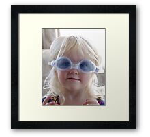 I too can swim like this... Framed Print