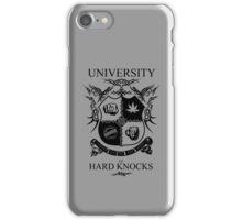 University of Hard Knocks (black) iPhone Case/Skin