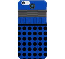 Not a robot. Blue. Inspired by Daleks. iPhone Case/Skin