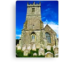 A Different View of All Saints Church.... Godshill Isle of Wight Canvas Print