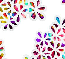 Multi-Colored Petal Flowers Pattern by Blkstrawberry