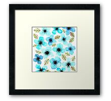 LILLY BLUE Framed Print