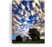 Blue Sky and Clouds Day Canvas Print