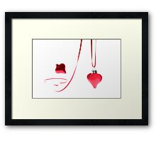 Ribbon of Hearts Framed Print