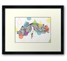 The Drip Experiment Framed Print