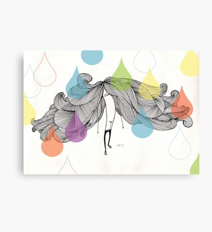 The Drip Experiment Canvas Print