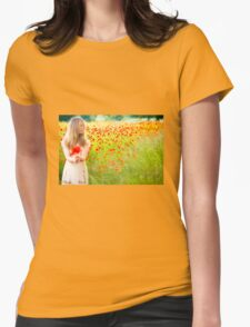 Poppy Red Womens Fitted T-Shirt