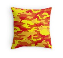 Camouflage (Fire) Throw Pillow