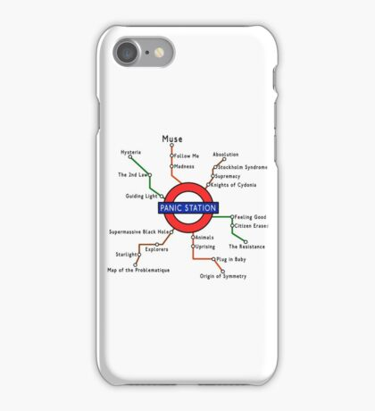 Panic Station Underground Map iPhone Case/Skin