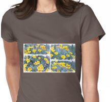 Yellow poppies collage Womens Fitted T-Shirt