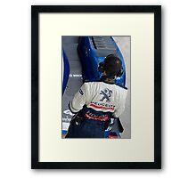 Peugeot Sport team Framed Print