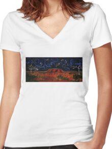 Uluru by Night Women's Fitted V-Neck T-Shirt