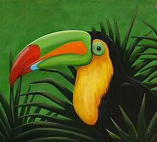 TOUCAN IN THE JUNGLE by OrsiniArts