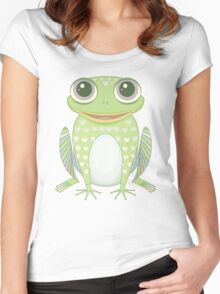 Big Optimistic Frog Women's Fitted Scoop T-Shirt