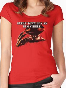 Every town has an Elm Street Women's Fitted Scoop T-Shirt