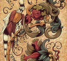 THREE BIRDS IN DESIGN by OrsiniArts