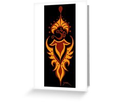 Transformation's Flame on Black Greeting Card