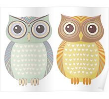 Cool Owl & Friendly Owl Poster