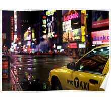 Times Square Cab Poster