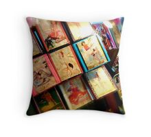 Flea Market Pin-ups Throw Pillow