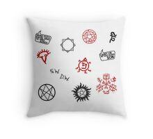 Supernatural Sigils and Symbols Throw Pillow